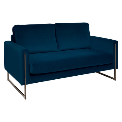 Bruges two seater sofa blue velvet