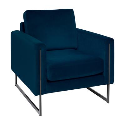 Bruges armchair blue velvet