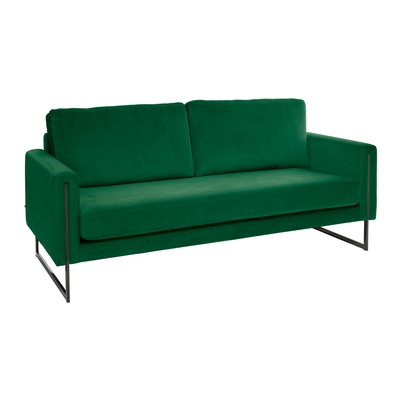 Bruges three seater sofa forest green velvet