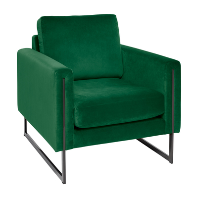 Bruges armchair forest green velvet