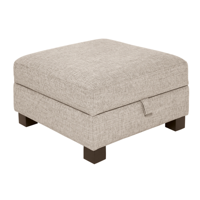 Monaco storage footstool sand fabric