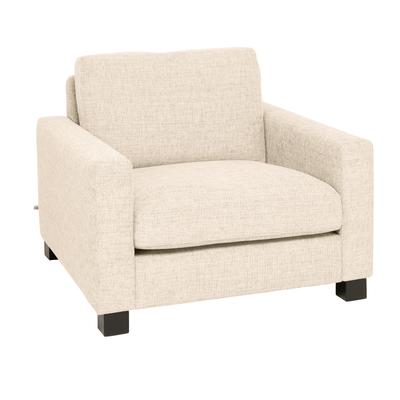 Monaco armchair ivory fabric