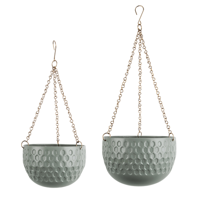 Pianta set of two hanging planters green