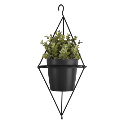 Pendere diamond hanging planter black