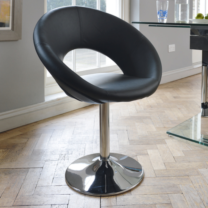 Retro circles dining chair black - dwell