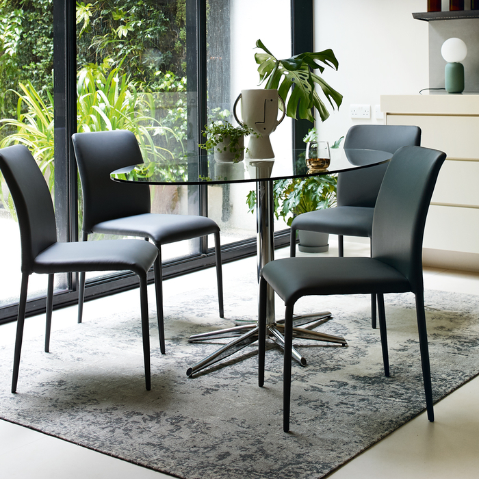 Stellar Base Glass 6 Seater Dining Table Clear Dwell 249