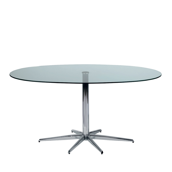 Stellar Base Glass 6 Seater Dining Table Clear Dwell