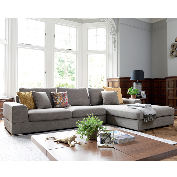 Verona right hand corner sofa mocha