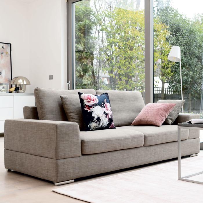 Verona three seater sofa mocha