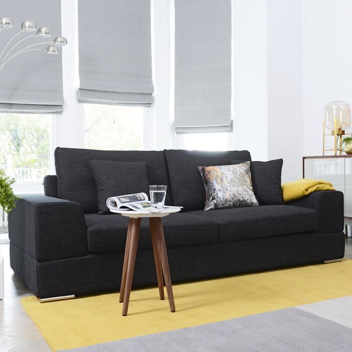 Verona three seater sofa charcoal