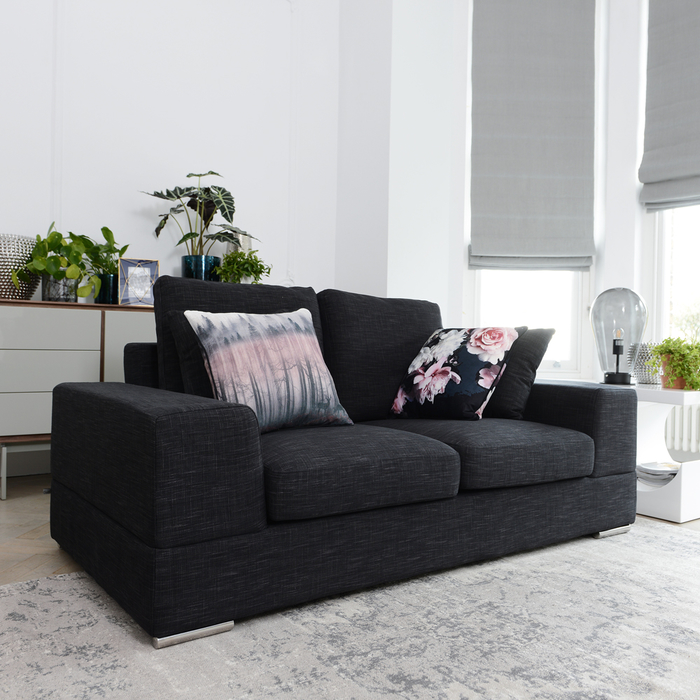 Verona two seater sofa charcoal