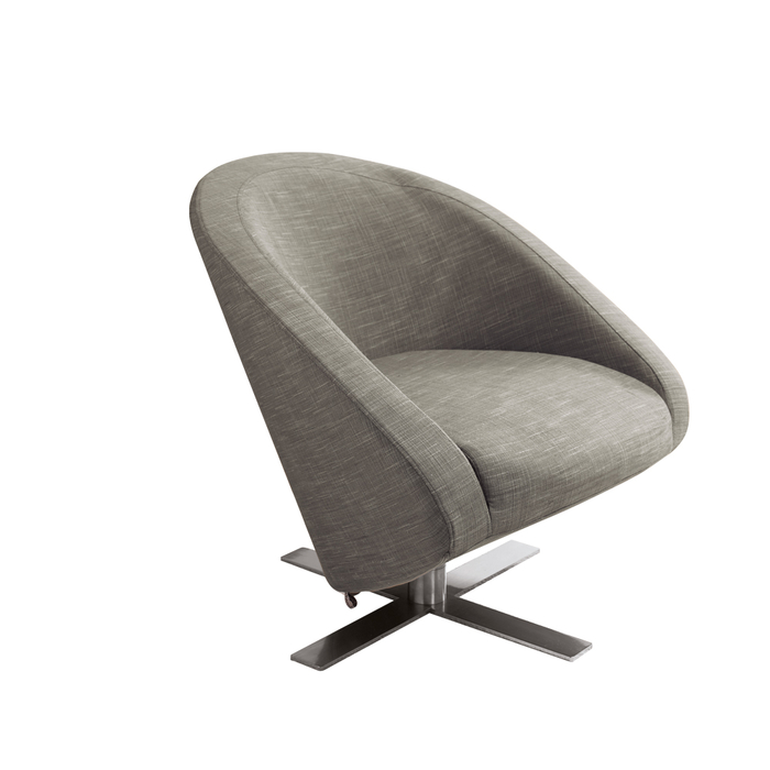 Cross base swivelling armchair mocha