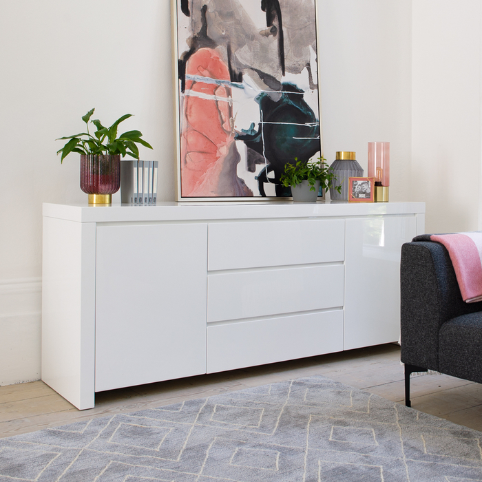 Newton storage sideboard white