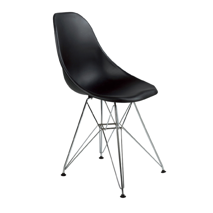 Eiffel dining chair with metal legs black