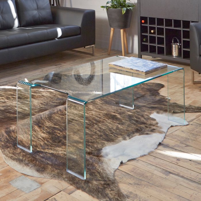 Puro glass coffee table clear