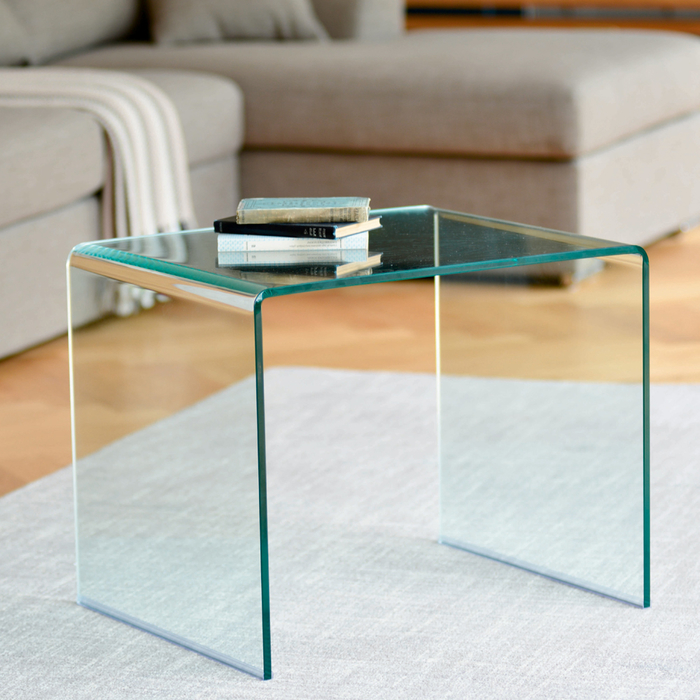 Puro glass side table clear