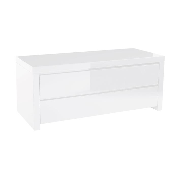 Newton storage TV unit white