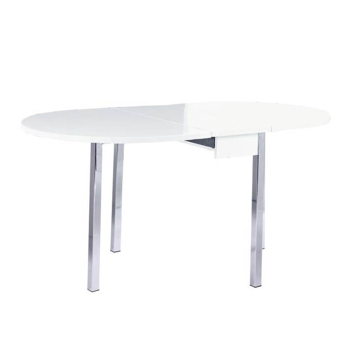 Dropleaf table white