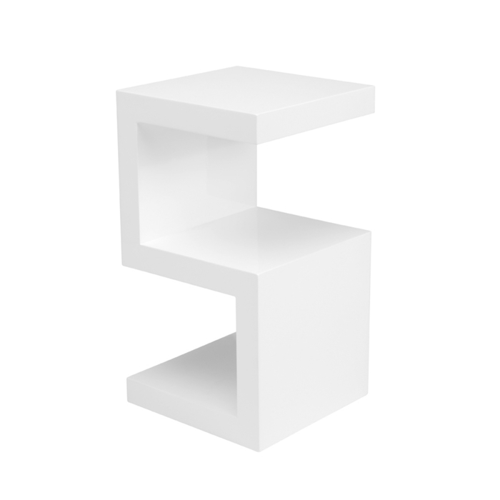 S side table white