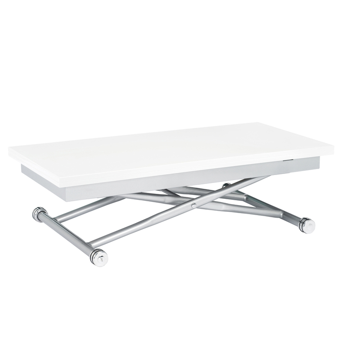 Ringgold Extendable Coffee Table With Storage: Rise Extending Coffee Table White