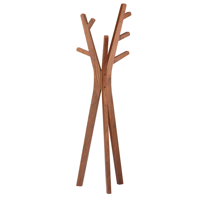 Tree coat stand walnut
