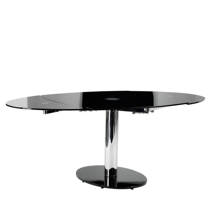 luca glass extending dining table black dwell : 700 109870 from dwell.co.uk size 700 x 700 jpeg 64kB