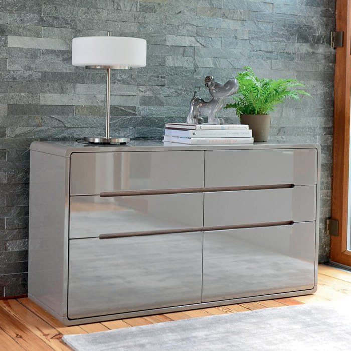 Basel six chest of drawers stone