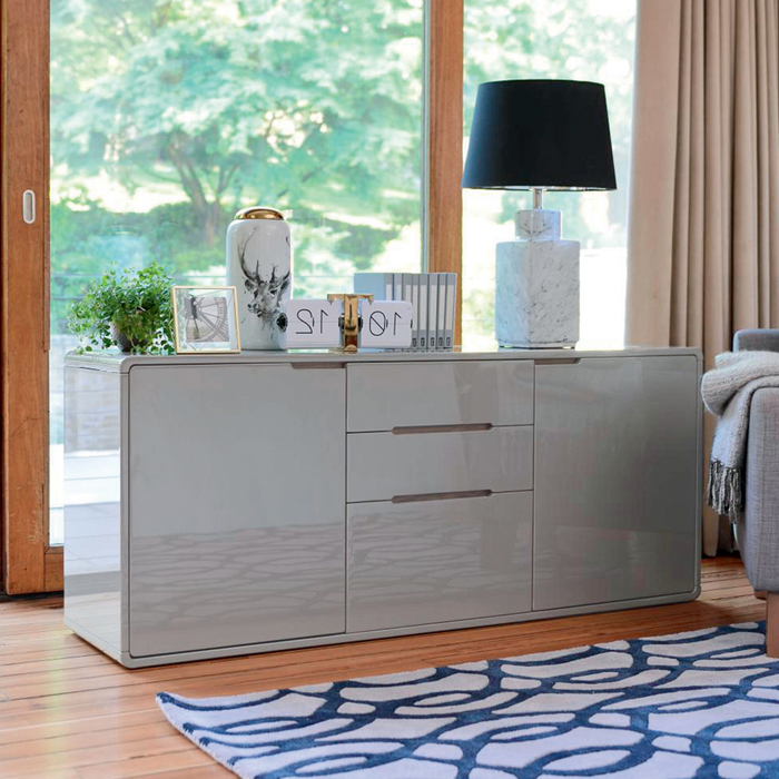 Basel two door sideboard stone
