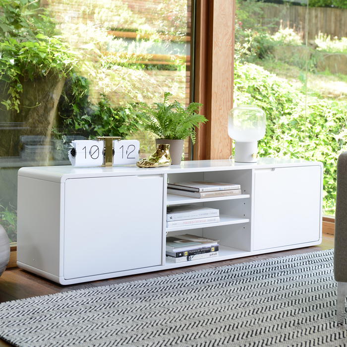 Basel TV unit white