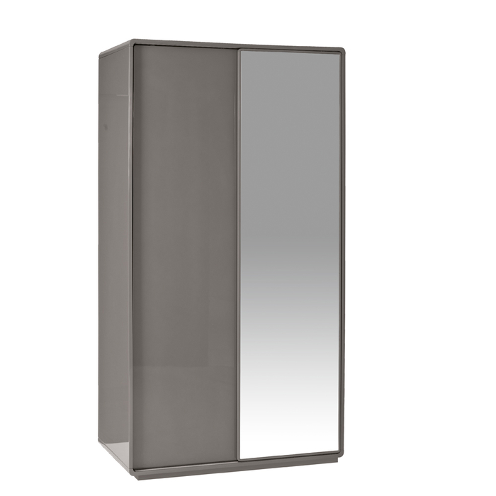 Malone sliding mirror door wardrobe stone