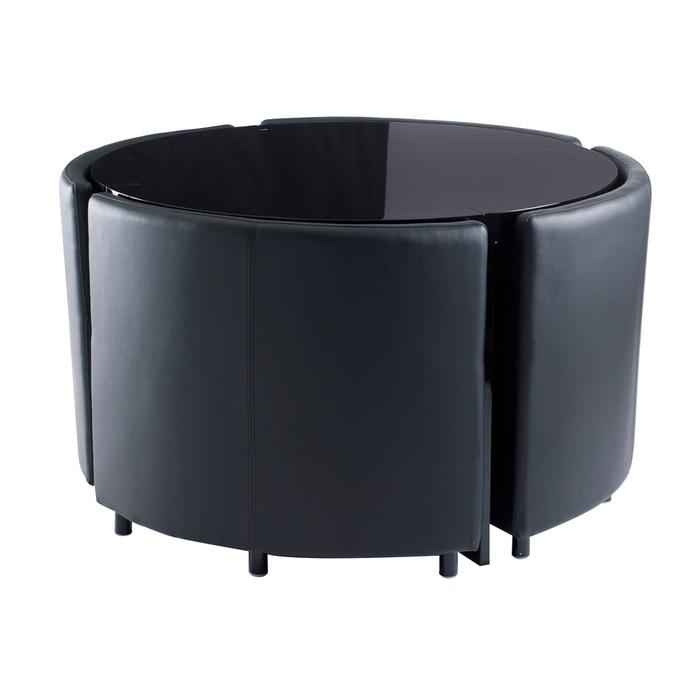 Rotunda dining table set black