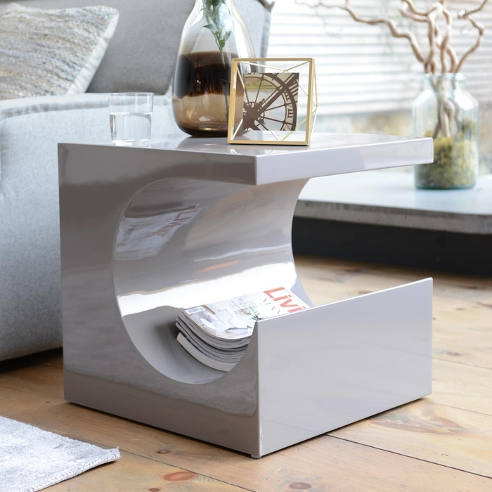 Sculptural side table stone
