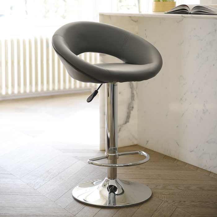 Retro circles bar stool grey
