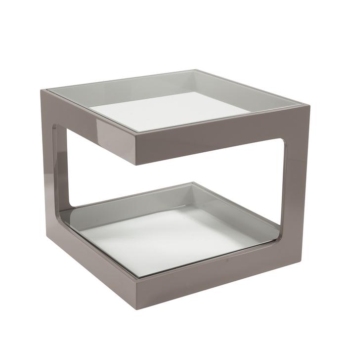 Modular gloss side table stone