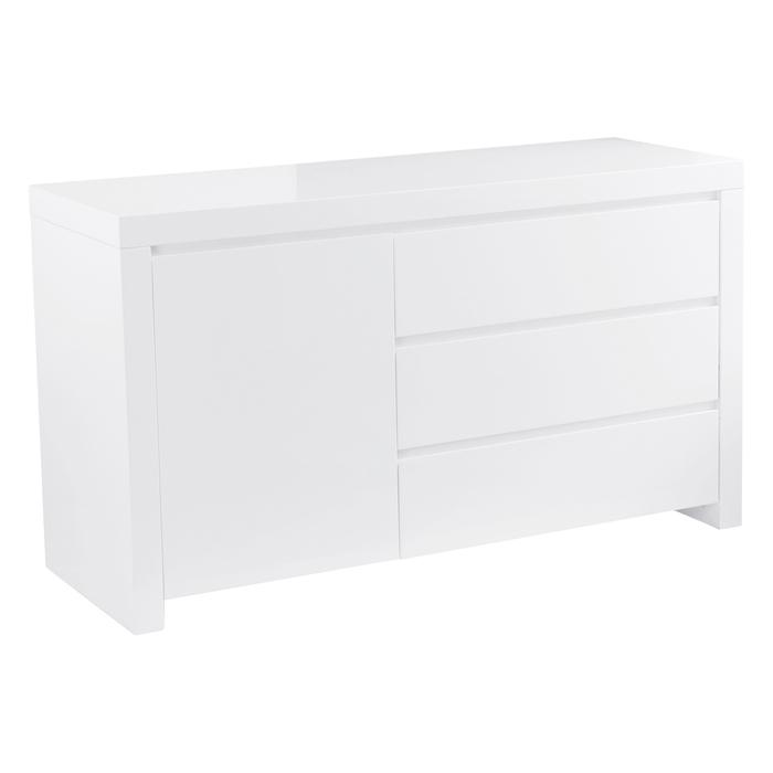 Newton compact storage sideboard white