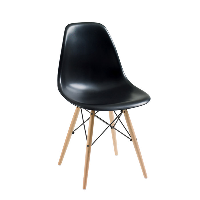 Eiffel dining chair with beech legs black