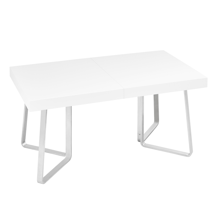 Brewer extending gloss dining table