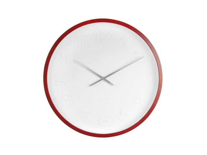 Wood edge white face clock medium