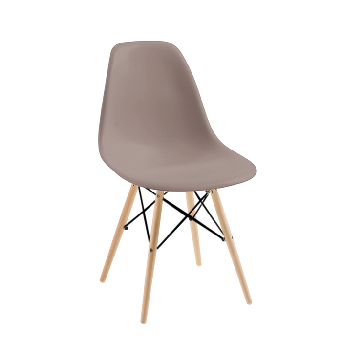 Eiffel dining chair with beech legs stone