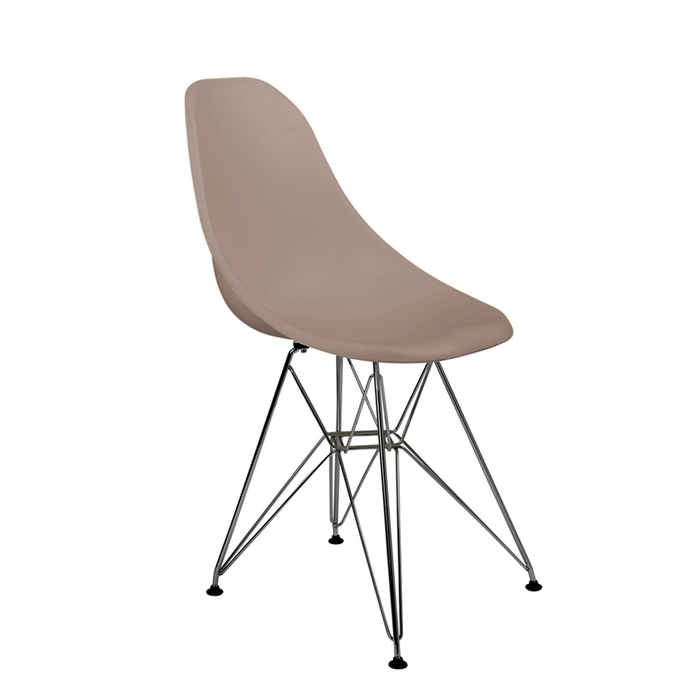Eiffel dining chair with metal legs stone