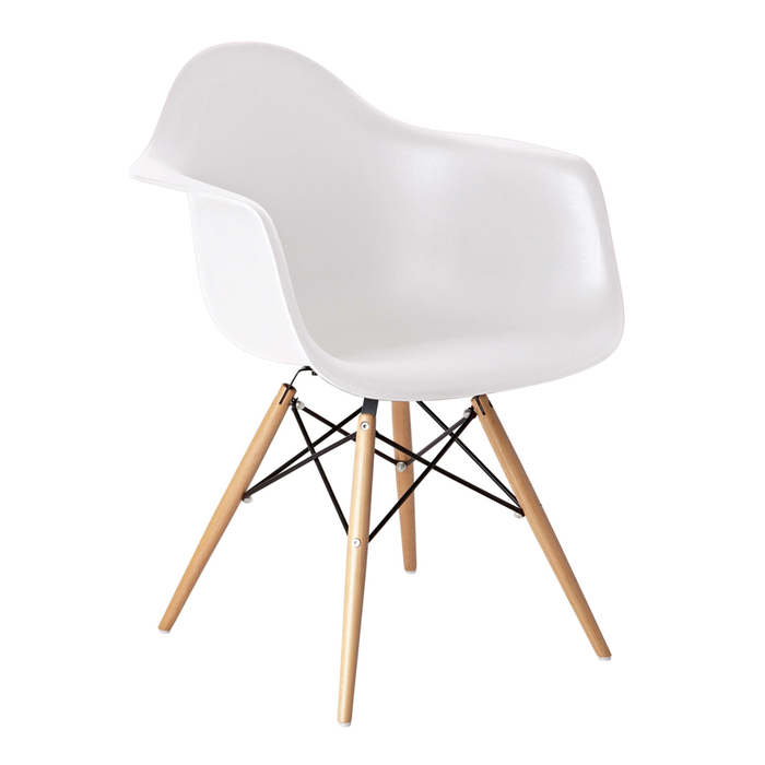 Eiffel armchair with beech legs white