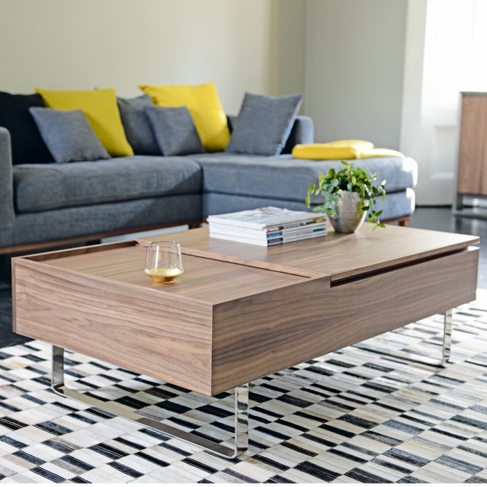 Dwell Coffee Table.Reveal Coffee Table Walnut Dwell 349