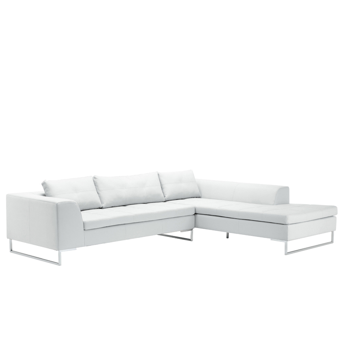 Vienna right hand corner sofa white