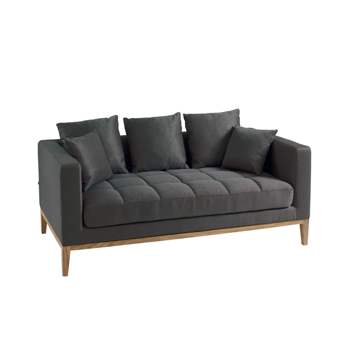 Limoges two seater sofa charcoal