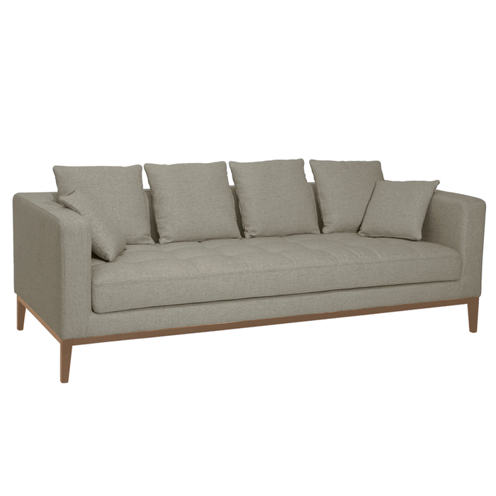 Limoges three seater sofa pewter