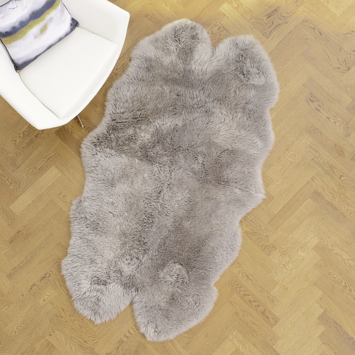 Sheepskin Rug Large Silver Dwell