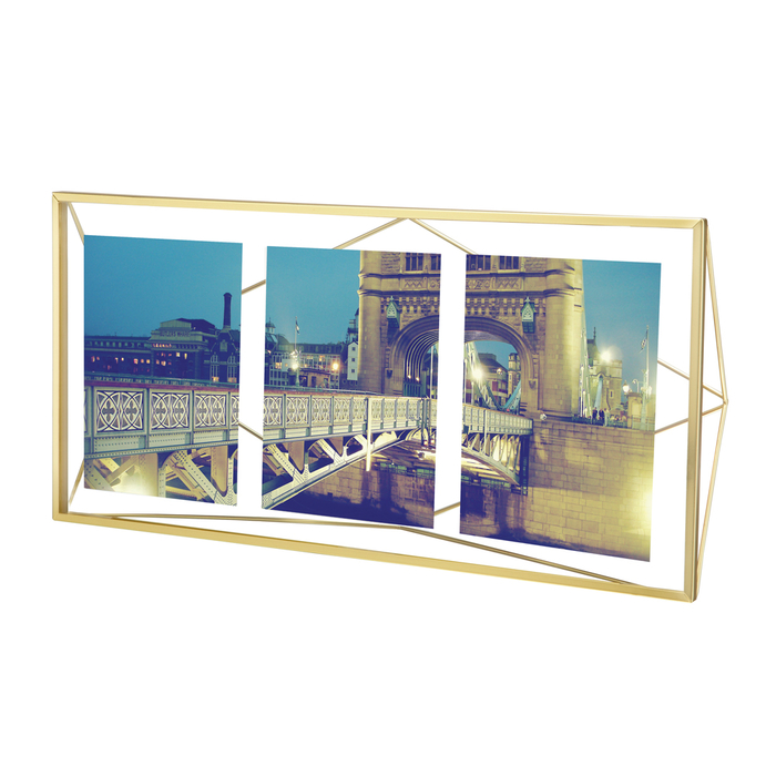 Prism picture frame extra large brass