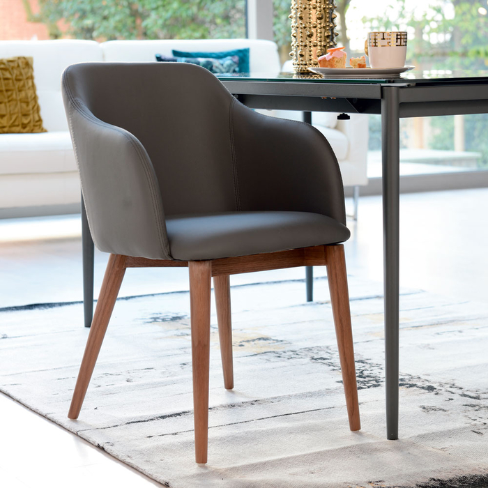 Dip dining chair grey