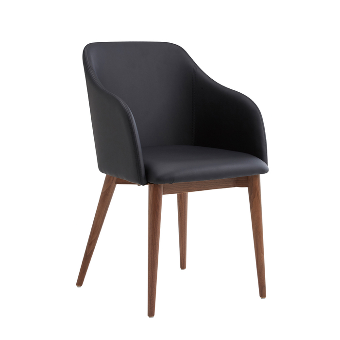 Dip dining chair black