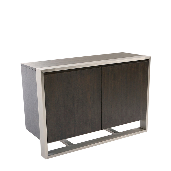 Nox two door compact sideboard chocolate oak